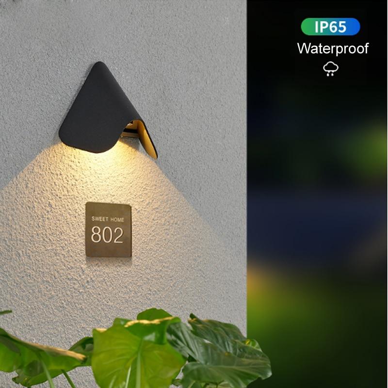 لافتة في الهواء الطلق الإضاءة منزل رقم ضوء لوحة الباب مصابيح الحائط متجر تسجيل الأضواء فناء الشمعدان Vestibule الشرفة