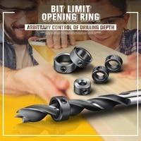8pcs bit limit opening ring 3 16mm locator drill bit depth stop collars ring positioner locator wood drill bit