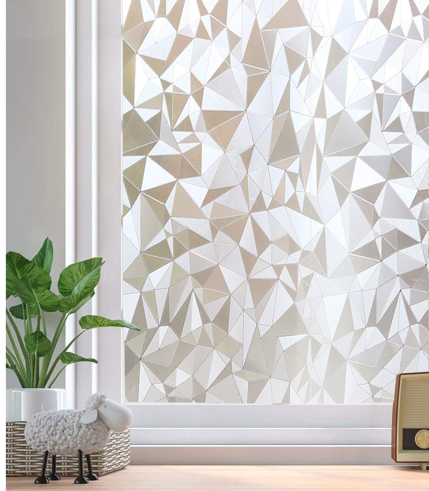 Láminas para ventanas LUCKYYJ, película de vidrio de PVC de privacidad estática sin pegamento, pegatinas de ventana esmerilada autoadhesivas, Anti UV de Control de calor