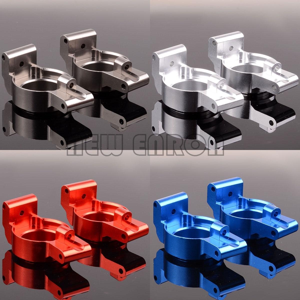 NEW ENRON #7732 2Pcs Aluminum Caster Blocks (C-hubs) Left&Right Metal For RC Car 1/5 Traxxas X-Maxx XMaxx 77076-4 77086-4