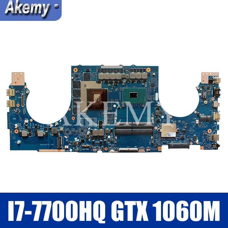 Akemy para ASUS ROG GL702VMK GL702VML GL702VM computadora portátil placa base GL702VMK Placa base con I7-7700HQ GTX 1060M GPU