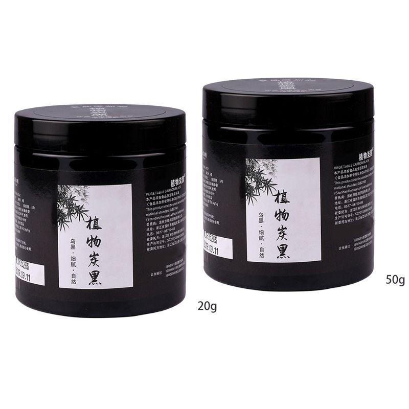 20/50g comestible carbón vegetal bambú negro en polvo ingredientes cosméticos horneado de alimentos DIY Sushi jabón de mascarilla de polvo cosmético de pigmento G8TB