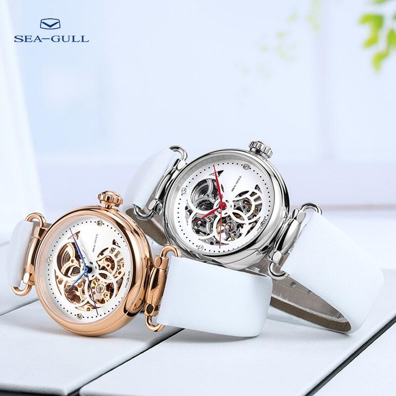 Reloj seagull reloj mecánico automático 50m resistente al agua de cuero relojes Valentine tiempo Goddess811.11.6002L