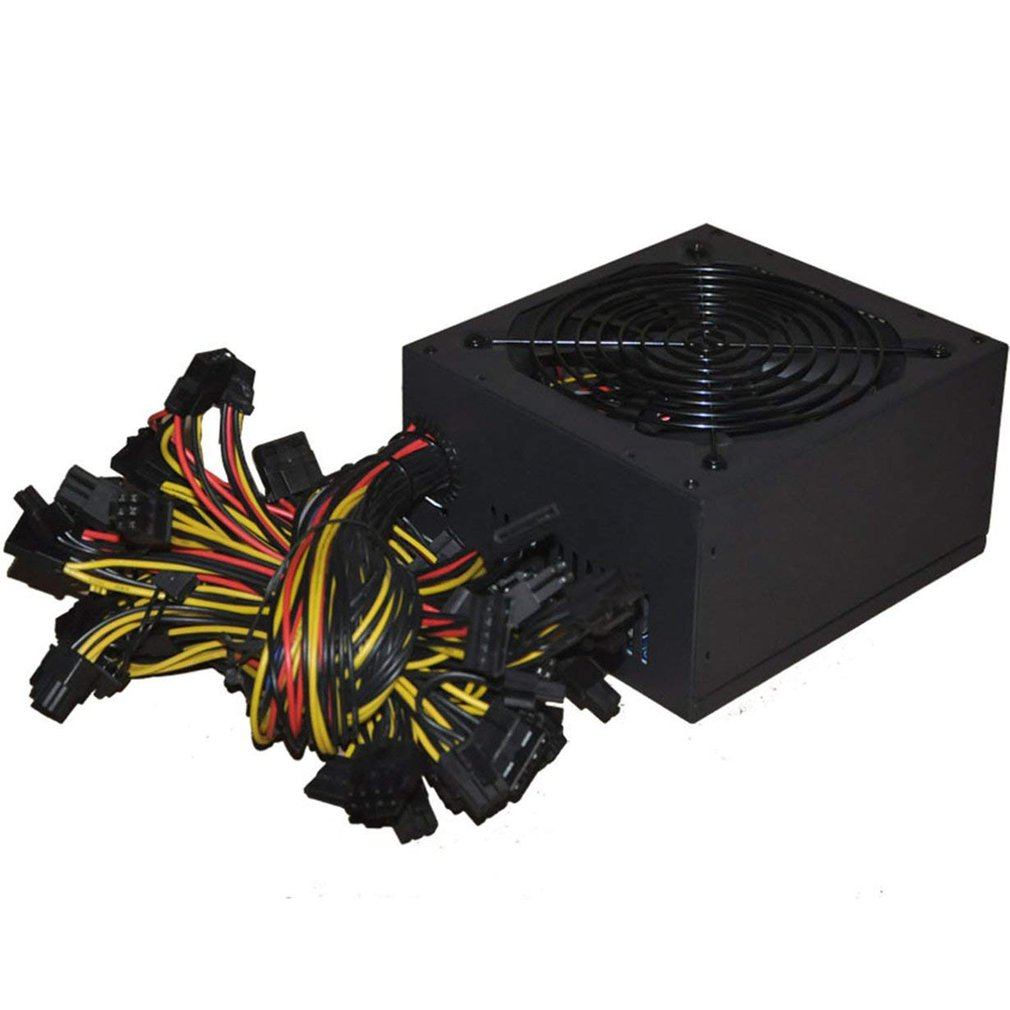 1800W ATX Modular Mining PC Power Supply Supports 6 Graphics Card 160-240V Power Supply Mining Machine Support