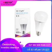9w yb1 milight wifi rgbcct led bulb dimmable 2 4g wireless smart lamp 2 in 1 bulb light 2 4g remote control ac100v 240v