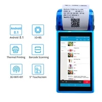 handheld pos terminal with 58mm thermal receipt printer portable android pda for mobile order bluetooth wifi 3g pos system