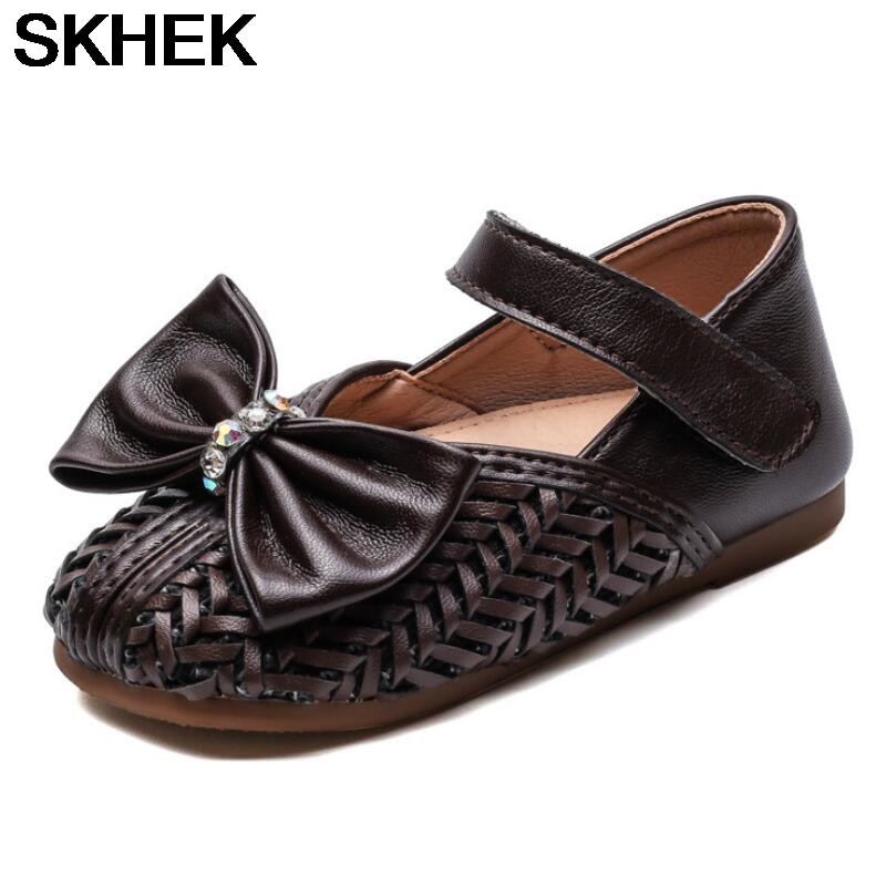 SKKEK Girls Cartoon Shoes Children's All Seasons Pu Leather Toddler Flat Rubber Shoes Kids Baby Shoes