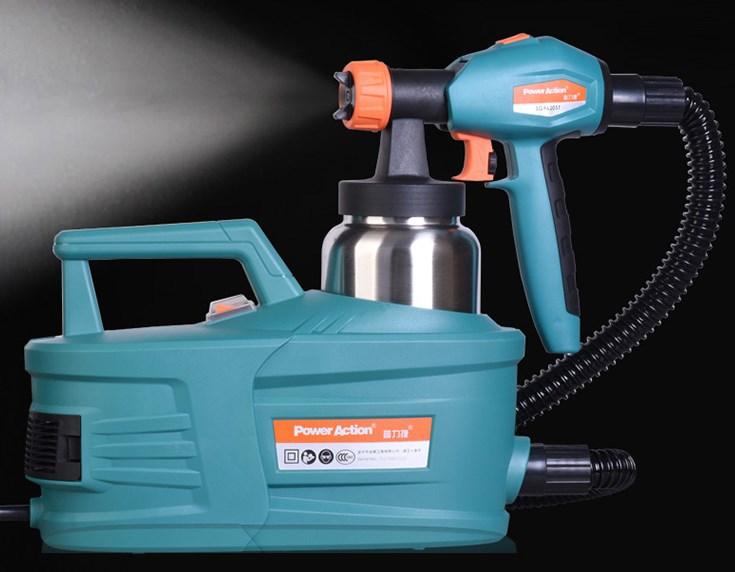 مسدس رش كهربائي عالي الضغط ، مسدس رش للطلاء من اللاتكس ، التحكم في تدفق الزيت ، إزالة الهواء من الفورمالديهايد