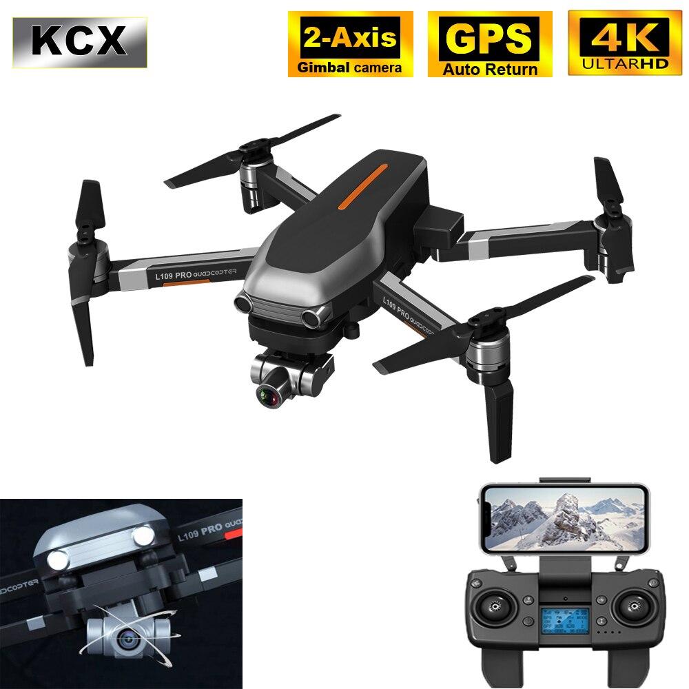 KCX profesional Drone GPS 4K HD 5G WIFI FPV L109PRO RC sin escobillas 2-eje cardán Cámara Quadcopter Drones del SG906PRO