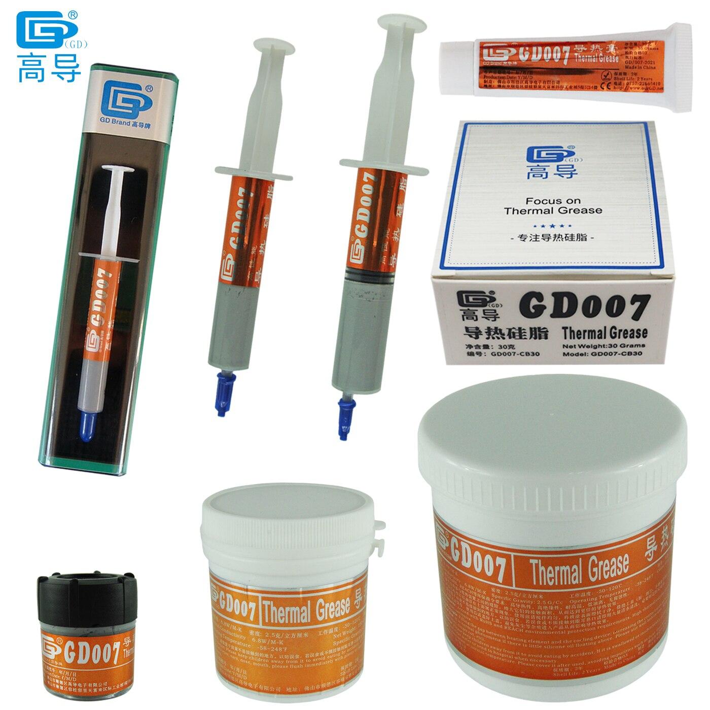 الوزن الصافي 3/15/30/150/1000 جرام GD007 الحرارية موصل الشحوم لصق الجص بالوعة الحرارة مجمع ل وحدة المعالجة المركزية LED BX SY CN ST CB