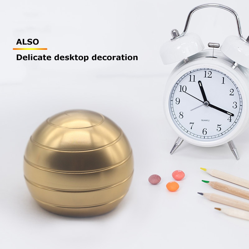 Desktop Stress Relief Toy Aluminum Alloy Decompression Hypnosis Rotary Gyro Adult Fingertip Toy Kinetic Round Metal Spinner Gift enlarge