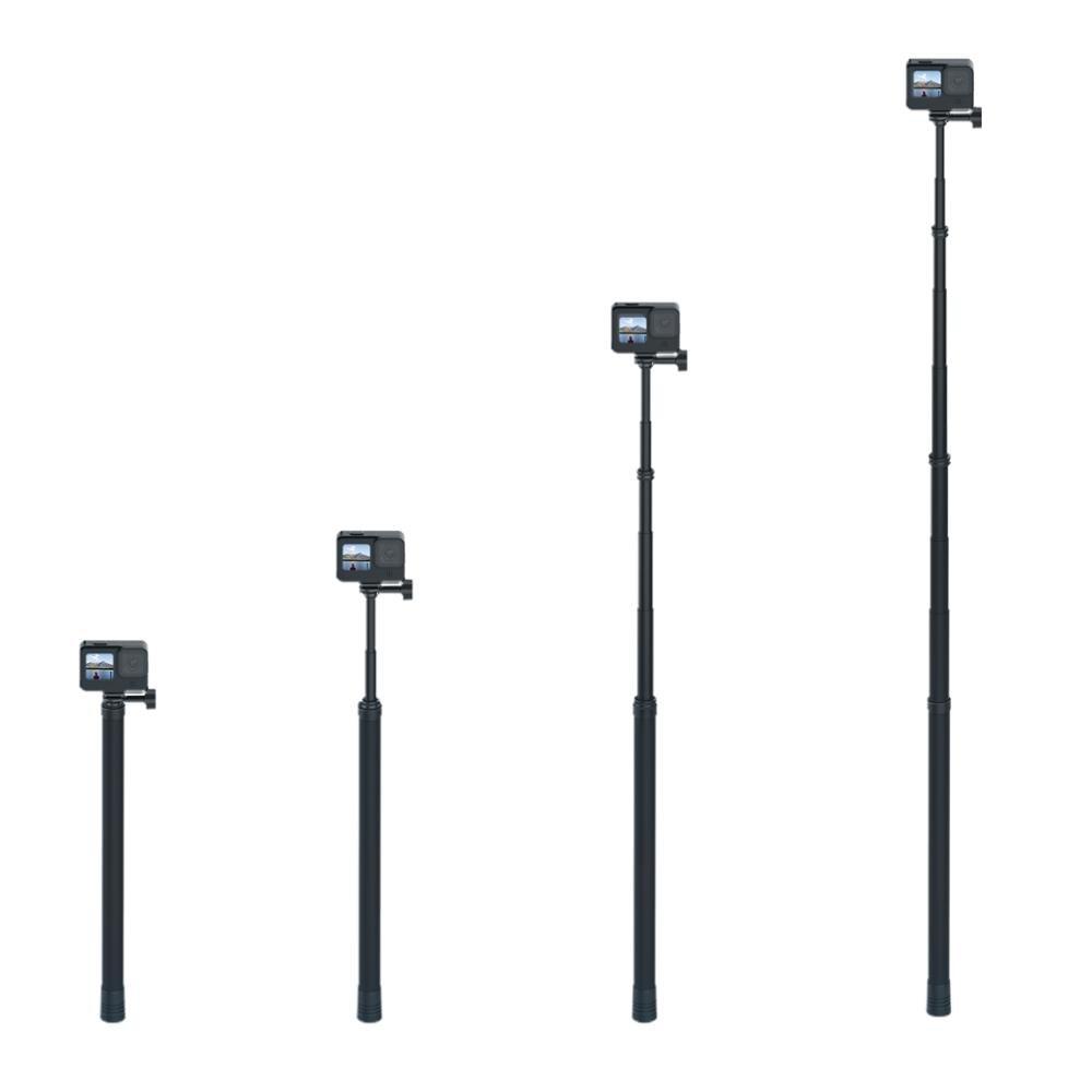 TELESIN 3M długi kijek do Selfie z włókna węglowego do GoPro Hero 9 8 7 6 5 Osmo Action Insta360 kieszonkowy aparat fotograficzny Sjcam akcesoria