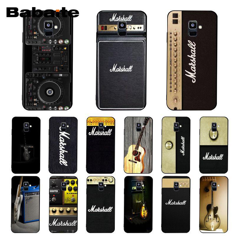 Babaite ampli guitare marshall Étui de Téléphone Pour Samsung Galaxy A7 A51 A71 A80 2018 A50 A7 A51 A71 A80 A8 A3 A6 A6PlusA8Plus A9