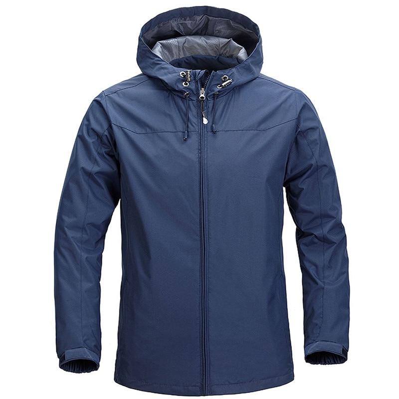 Mens Waterproof Jackets and Coats Spring Autumn Outdoors Hiking Camping Fishing Jackets Windbreaker Hoodies Zipper Jacket Men
