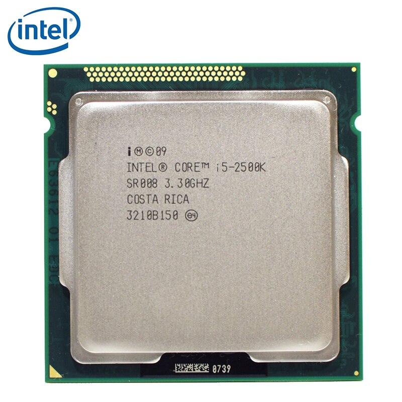 Intel Core i5 i5-2500K 2500 K i5 2500 K 3,3 GHz Quad-Core CPU procesador M 95W LGA 1155 probado 100% de trabajo