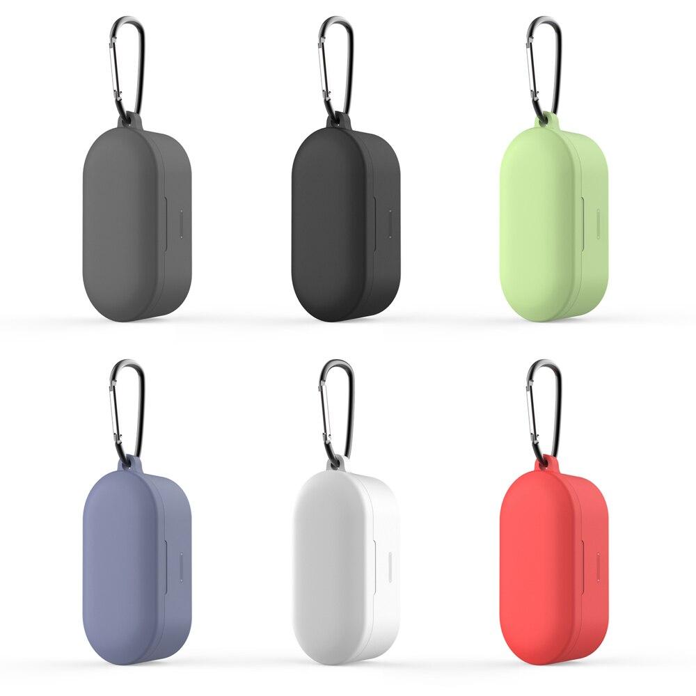 Para QCY T1S auriculares Bluetooth con carcasa Silione Protector cubierta para TWS T2C auriculares inalámbricos a prueba de golpes funda con Charing box