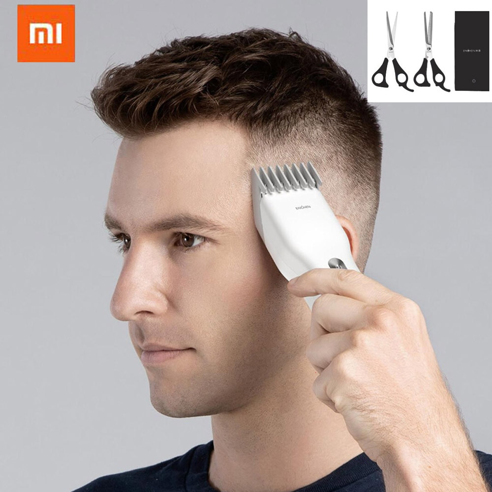 Nueva cortadora de pelo eléctrica USB ENCHEN Boost, cortadora de pelo de carga rápida, cortadora de pelo para niños, cortadora de pelo de cerámica de dos velocidades