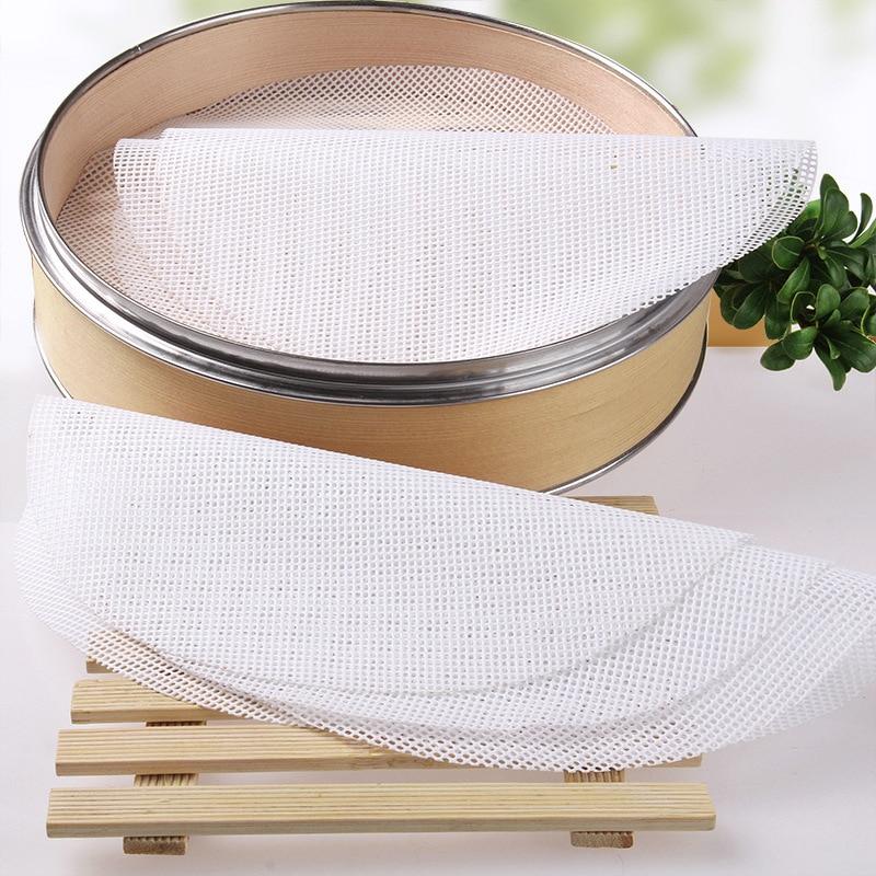 5 unids/set reutilizable de silicona de la cocina del vapor de malla de no-stick de forma redonda tapete para albóndigas de vapor bollos hornear pasteles Dim Sum de malla