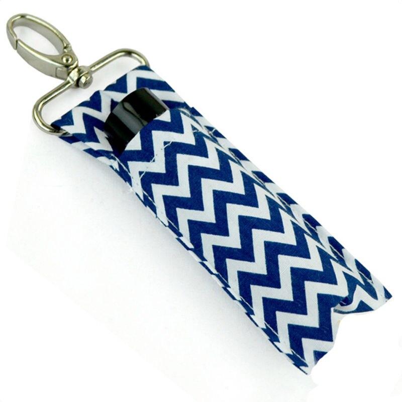 Cotton Wave Storage Bag Lip Balm Keychain Creative Key Chain Lipstick Bag Key Ring Metal Car Key Chapstick Holder Women Pouch