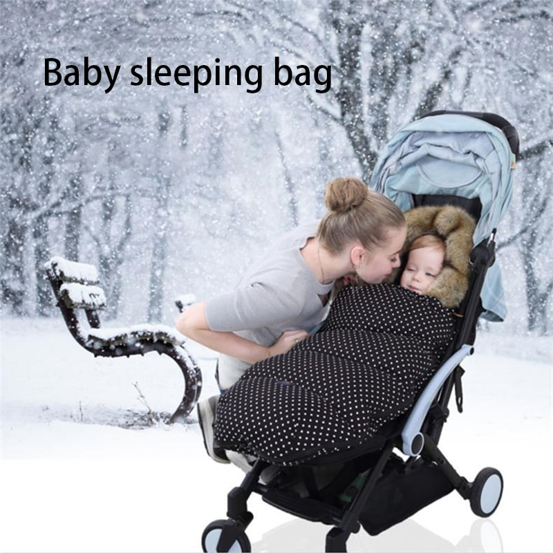 New Baby Stroller Baby Sleeping Bag Baby Autumn and Winter Home Newborn Warmth and Cold Thickening Anti-kick Quilt Sleeping Bag