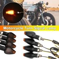 universal motorcycle turn signal lamp led blinker light lamp anti collision splash proof indicator lamp super bright light