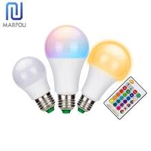 E27 contrôle intelligent Dimmable LED RGB lumière 5W 10W 15W 110V 220V LED ampoule coloré lampe changeante décor à la maison éclairage intérieur Lampada