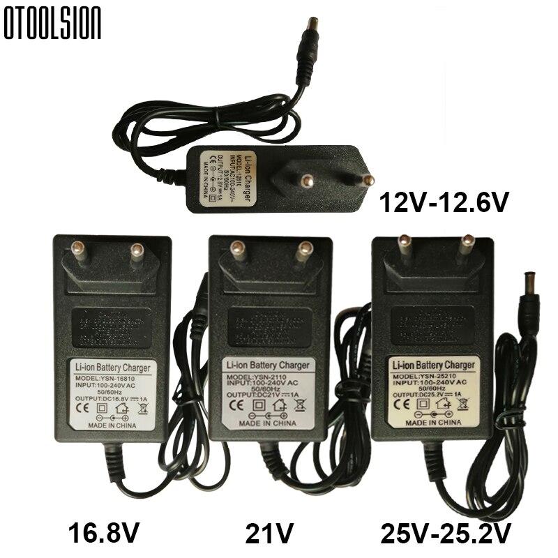 25 в 21 в 16,8 в 12,6 в 12 В беспроводной Dril электрический шуруповерт зарядное устройство литиевая батарея зарядное устройство адаптер питания зар...