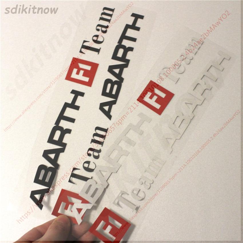 1pair F1 Team Racing Car Sports Decal Sticker Accessories Decoration For Abarth fiat 500 grande punto bravo doblo panda ducato