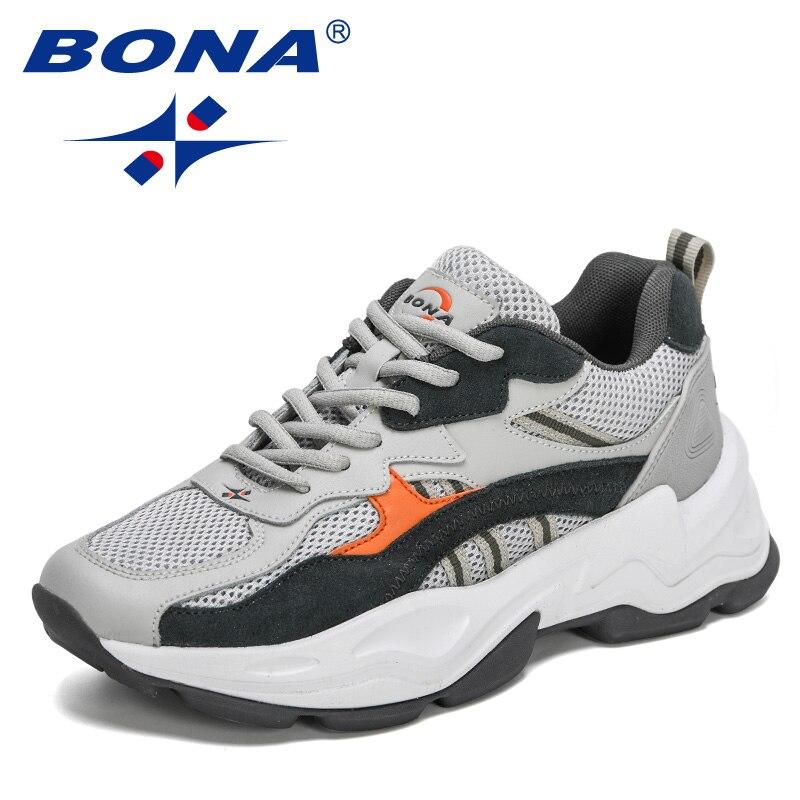 بونا 2021 المصممين الجدد شعبية أحذية رياضية الرجال أحذية مفلكنة شبكة الهواء رجالي خفيفة الوزن حذاء كاجوال الذكور الترفيه مريح فوتوير القدم