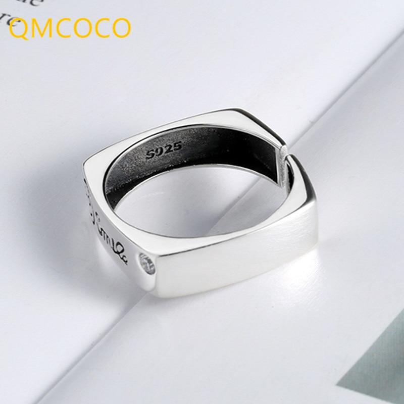 Кольцо-qmcoco-регулируемое-женское-из-тайского-серебра-925-пробы-с-квадратным-улыбающимся-лицом