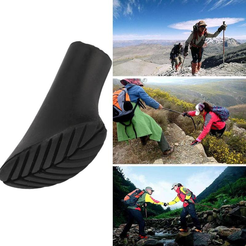 1pieces/6 pair Nordic Walking Pole Trekking Pole Tip Replacement End Stick For Hiking Tools Rubber Buffer Pads Protectors T D6T1