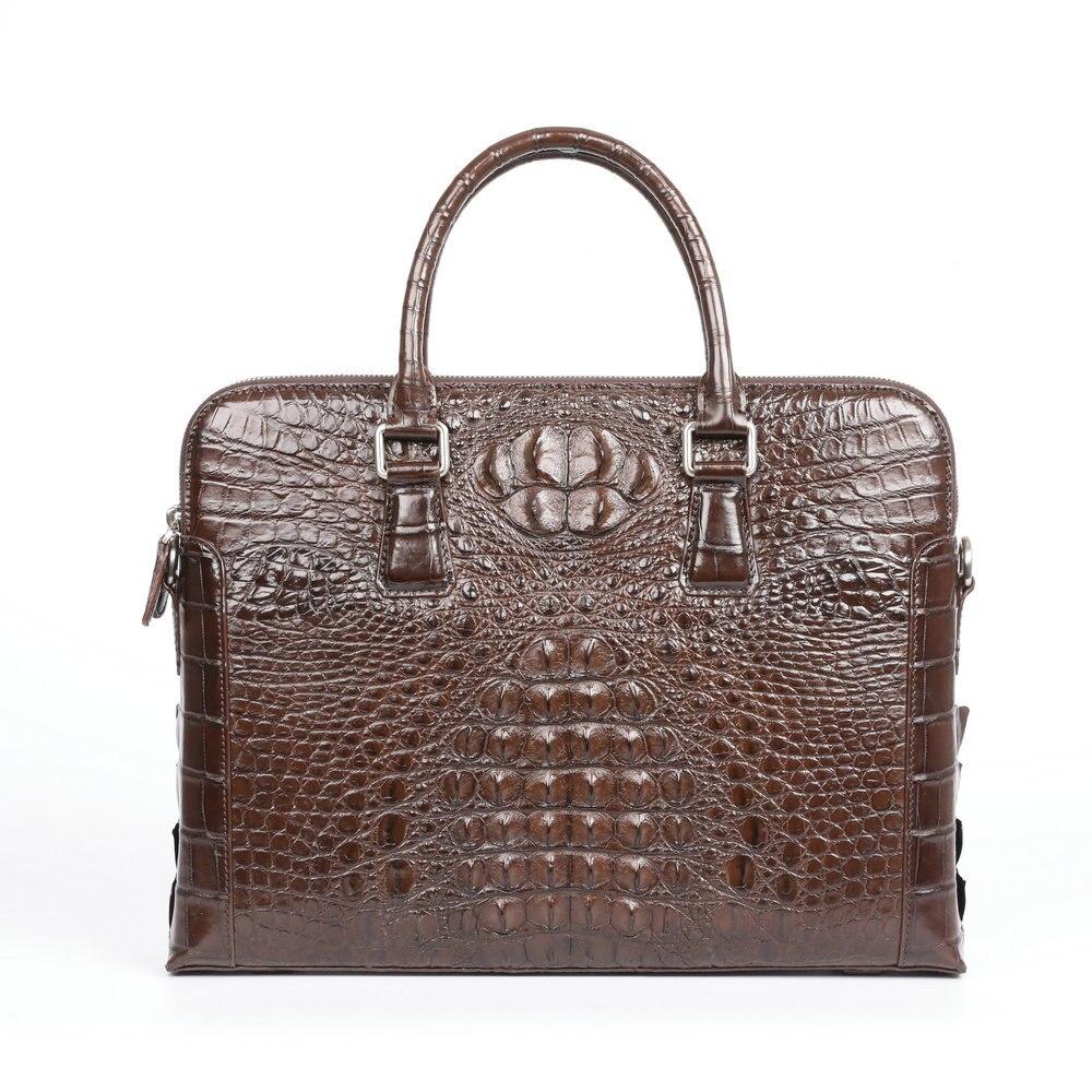 Crocodile Leather Suitcase Briefcase Men's Handbag Business Laptop Messenger Bag Office Bags For Men High Grade Single Shoulder