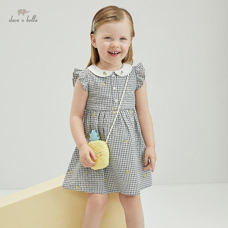 """DBZ18154, летнее клетчатое платье для маленьких девочек с фруктами и сумкой, платье для вечерние НКИ, детская одежда в стиле """"Лолита"""", 2 предмета Платья для девочек    АлиЭкспресс"""