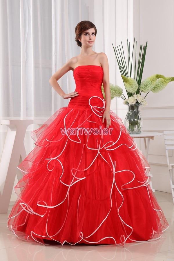 Envío gratis de mujeres 2016 Nuevo vestido de talla grande elegante largo hasta el suelo vestido de dama de honor rojo maxi vestido bola grande vestidos de graduación