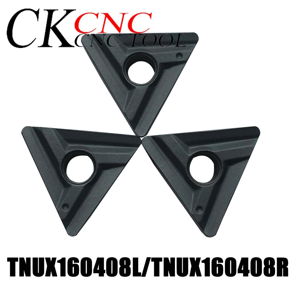 TNUX160408L LT10 TNUX160408R NN LT10 cnc hoja de carburo cementado LAMI TNUX160408L TNUX160408R inserción de ranurado para herramienta externa