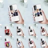 jujutsu kaisen cartoon animal phone case transparent for huawei mate p 40 30 20 10 pro plus lite x 5g soft tpu clear mobile bags