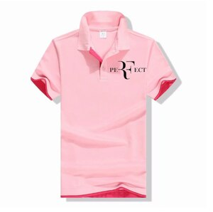 New Polo Shirt RF roger federer logo Cotton Polo shirt Short Sleeve High Quantity polo shirts e3