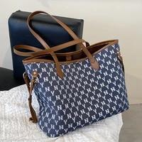 2 pcsset composite bag luxury designer high capacity tote handbag for women 2021 brand designer letter shoulder shopping bag