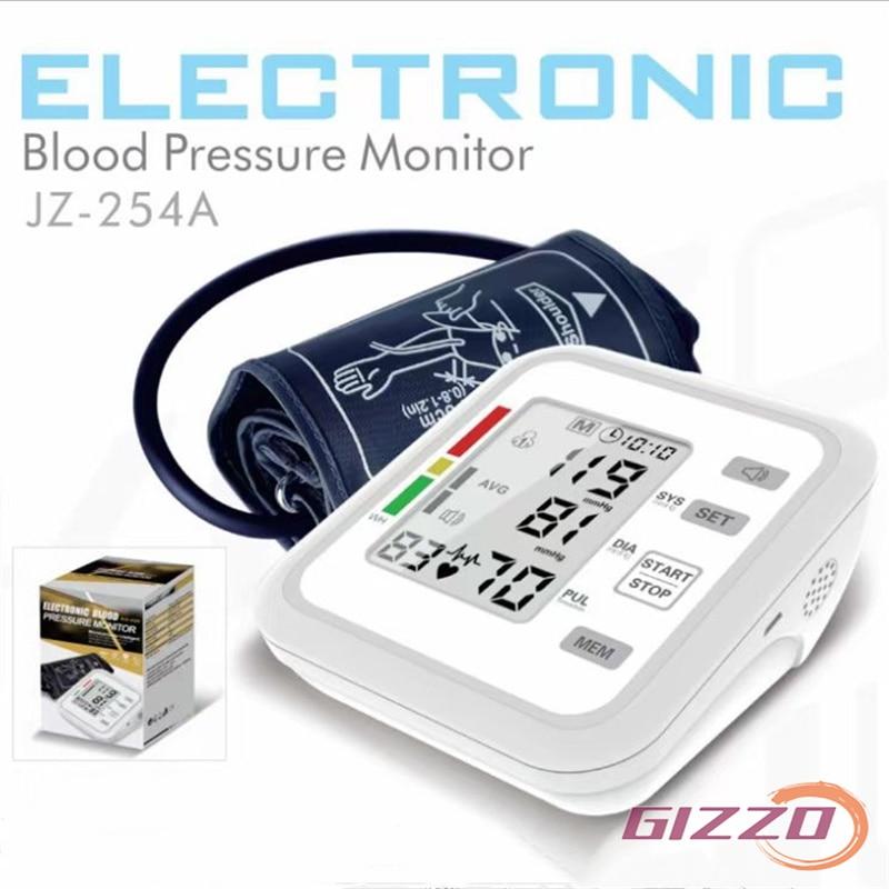 GIZZO Arm Blood Pressure Monitor  Medical Equipment Tonometer BP Mini Blood Pressure Monitor Heart Beat Rate Pulse Meter