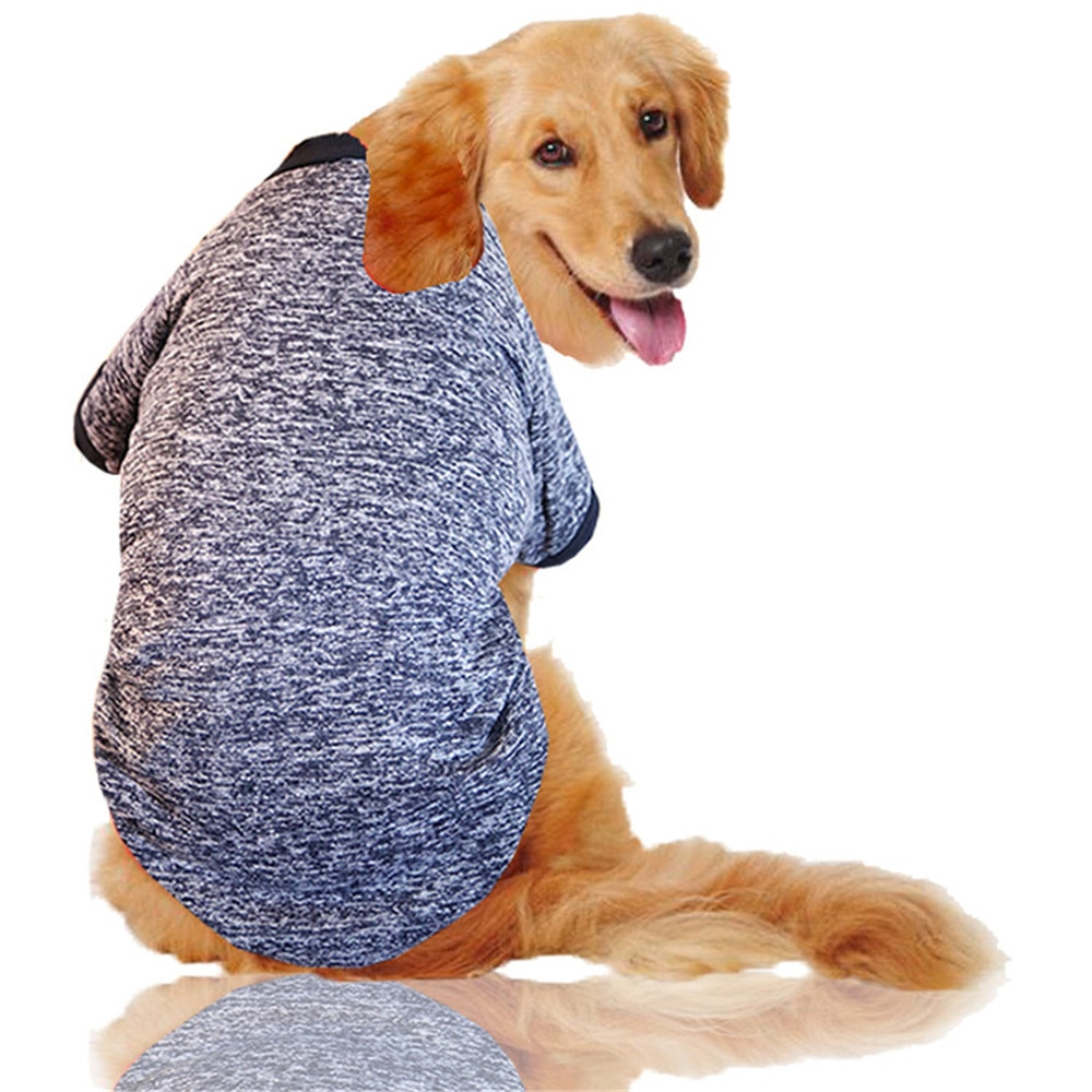 3XL-9XL ropa para perros grandes suéter de lana chaqueta de abrigo suave cálido para Husky Golden Retriever alaskán ropa para perros disfraces de mascotas