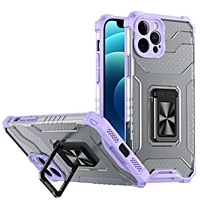 translucent anti fall armor magnetic ring bracket phone case for iphone se 6 6s 7 8 plus x xr xs 11 12 13 mini pro max 2020 case