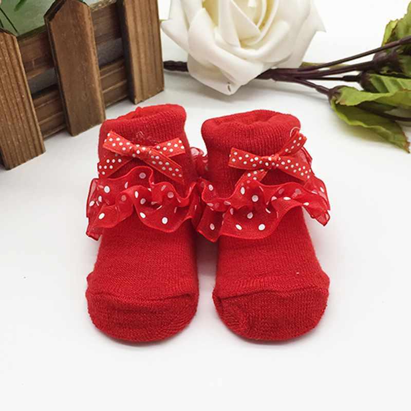 0-6 Month Toddlers Newborn Baby Socks Infants Cotton Ankle Socks Baby Girls Princess Bowknots Socks Baby Socks Red
