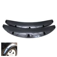 2pcs car wheel eyebrow arch protector trim lips fender flares carbon fiber color
