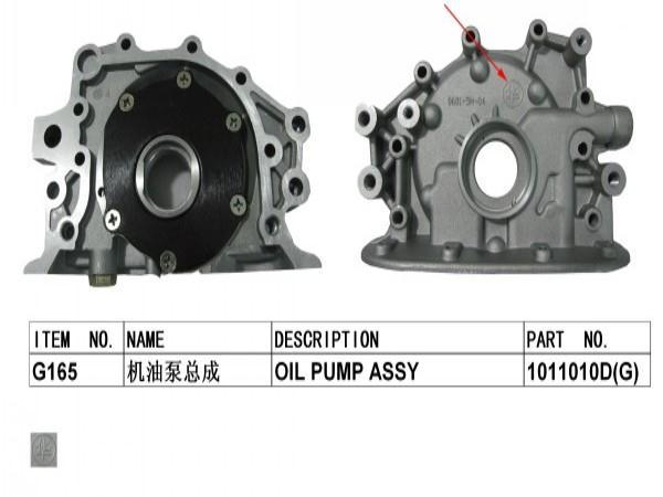 Montaje de bomba de aceite para CHANGAN benben mini OEM G165
