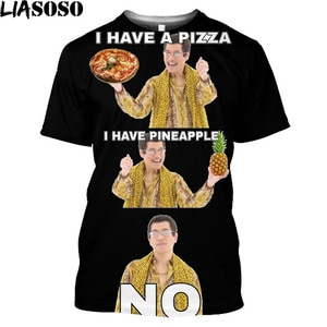 Men Clothes 2020 Pineapple Pizza Fruit Printed Funny Aesthetic Harajuku T-Shirt Leisure Short Sleeve O-neck T Shirt Graphic Tees