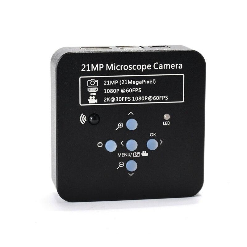 Completo hd 1080p 60fps 2k 21mp hdmi usb industrial eletrônico digital vídeo microscópio câmera nifier para o telefone cpu pcb reparação