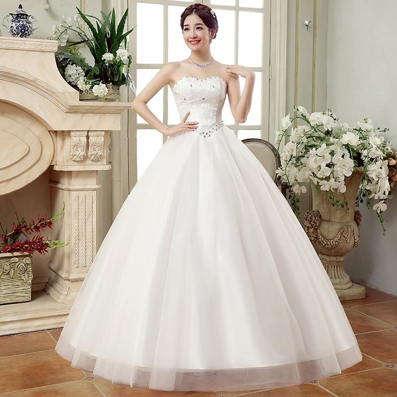 Vestido de Noiva Vestidos de Noiva Vestidos de Baile Vestidos de Princesa Sexy Flor Branco Tamanho Grande