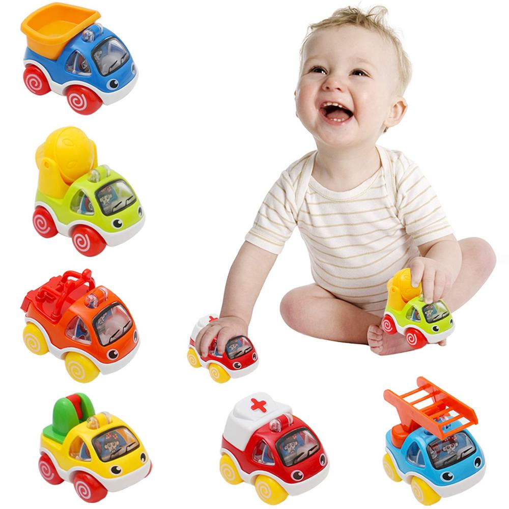 Образовательные Игрушки для раннего развития, машинки для детей ясельного возраста, фрикционные транспортные средства, игрушки для детей 1,...