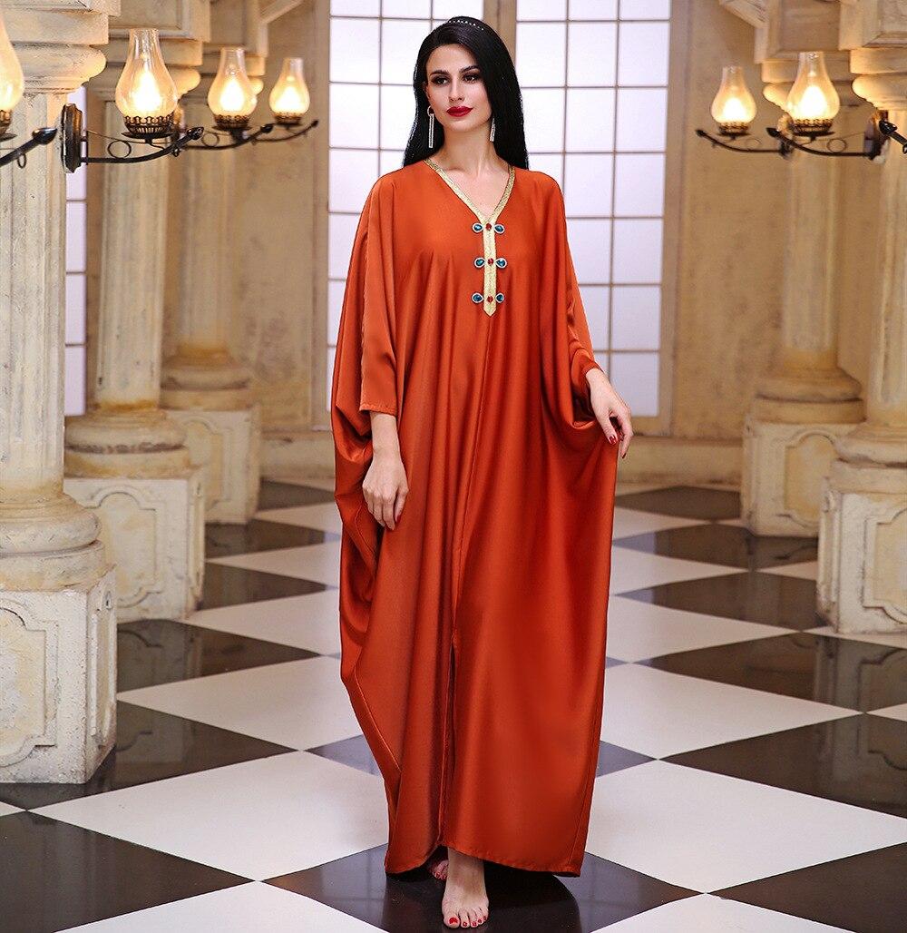 Abaya Dubai Turkey Hijab Muslim Satin Dress Islam Clothing Maxi Dresses Abayas For Women Robe Femme Musulman De Mode Vestidos