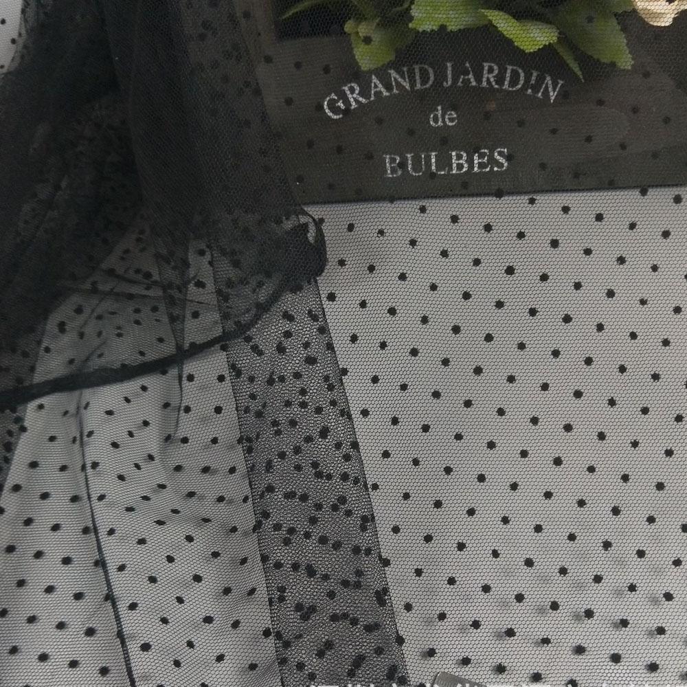 1Yard 150cm breit schwarz weiß strömten polka dot mesh tüll stoff Hohe Qualität Braut Kleid Hochzeit Dekoration Stoff